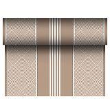Tischläufer, stoffähnlich, PV-Tissue Mix ROYAL Collection 24 m x 40 cm braun Elegance, Papstar (86507)