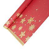Tischdecke, Papier 6 m x 1,2 m rot Just Stars lackiert, Papstar (86586), 12 Stück