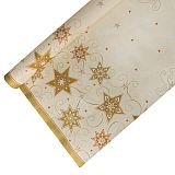 Tischdecke, Papier 6 m x 1,2 m creme Just Stars lackiert, Papstar (86587), 12 Stück