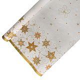 Tischdecke, Papier 6 m x 1,2 m weiss Just Stars lackiert, Papstar (86588), 12 Stück