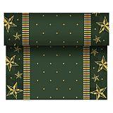 Tischläufer, stoffähnlich, Airlaid 24 m x 40 cm grün Star Shine, Papstar (86776)