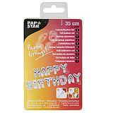 Folienluftballon-Set silber Happy Birthday, Papstar (86800)