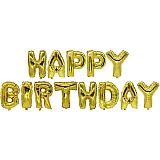 Folienluftballon-Set gold Happy Birthday, Papstar (86801)