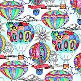 Servietten, 3-lagig 1/4-Falz 33 cm x 33 cm Balloon Dream, Papstar (86821), 200 Stück