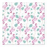 Servietten, 3-lagig 1/4-Falz 33 cm x 33 cm Flamingos, Papstar (86877), 200 Stück