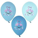 Luftballons Ø 29 cm farbig sortiert Flamingo, Papstar (87030)