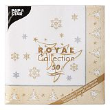 Servietten ROYAL Collection 1/4-Falz 40 cm x 40 cm gold X-Mas Elegance, Papstar (87104)