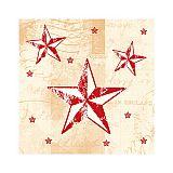 Servietten, 3-lagig 1/4-Falz 25 cm x 25 cm creme/rot Star Shine, Papstar (87209), 600 Stück