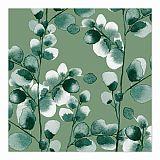 Servietten, 3-lagig 1/4-Falz 33 cm x 33 cm Eucalyptus, Papstar (87337), 200 Stück
