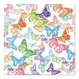 Servietten, 3-lagig 1/4-Falz 33 cm x 33 cm Butterflys flight, Papstar (87547), 200 Stück