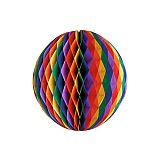 Wabenball Ø 30 cm Rainbow schwer entflammbar, Papstar (87659), 10 Stück