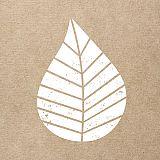 Servietten, 3-lagig 1/4-Falz 33 cm x 33 cm natur Graphic Leaves, Papstar (87705), 200 Stück