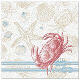 Servietten ROYAL Collection 1/4-Falz 40 cm x 40 cm Krabbe, Papstar (88322)