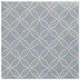 Servietten ROYAL Collection 1/4-Falz 40 cm x 40 cm arktikblau Circle Flowers, Papstar (88523)