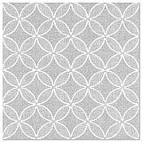 Servietten ROYAL Collection 1/4-Falz 40 cm x 40 cm grau Circle Flowers, Papstar (88525)