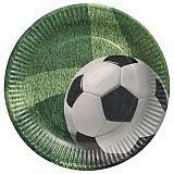 Teller, Pappe rund Ø 23 cm Football, Papstar (88579), 10 Stück