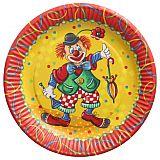 Teller, Pappe rund Ø 23 cm Clown, Papstar (88580), 10 Stück