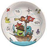 Teller, Pappe rund Ø 23 cm Pirate Crew, Papstar (88581), 10 Stück