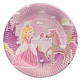 Teller, Pappe rund Ø 23 cm Fairytale Princess, Papstar (88583), 10 Stück