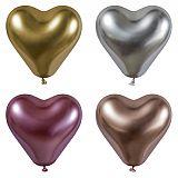 Luftballons Ø 28 cm farbig sortiert Glossy Heart large, Papstar (88870)