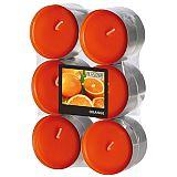 Flavour by GALA Maxi Duftlichte Ø 58 mm, 24 mm orange - Orange, Gala (96923), 144 Stück
