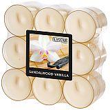 Flavour by GALA Duftlichte Ø 38 mm, 24 mm elfenbein - Sandalwood-Vanilla in Polycarbonathülle, Gala (96980), 108 Stück