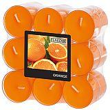 Flavour by GALA Duftlichte Ø 38 mm, 24 mm orange - Orange in Polycarbonathülle, Gala (96983), 108 Stück