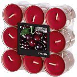 Flavour by GALA Duftlichte Ø 38 mm, 24 mm bordeaux - Cherry in Polycarbonathülle, Gala (96986), 108 Stück