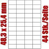 Blatt selbstklebende Universal-Etiketten weiß auf DIN A4, 48,3 x 25,4 mm, Primus (8484-0), 1000 Stück