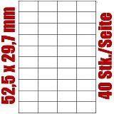 Blatt selbstklebende Universal-Etiketten weiß auf DIN A4, 52,5 x 29,7 mm, Primus (8490-0), 1000 Stück