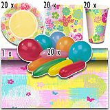 Party-Set Rita (81-teilig: Servietten, Teller, Becher, Tischläufer, Luftballons), tradingbay24 (tbK0015)