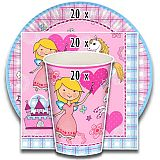 Party-Set Princess Dream (60-teilig: Servietten, Teller, Becher), tradingbay24 (tbK0018)