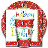 Party-Set Happy Birthday (60-teilig: Servietten, Teller, Becher), tradingbay24 (tbK0022)