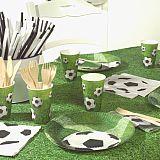 Party-Set Fußball (68-teilig: Servietten, Teller, Becher, Luftballons), tradingbay24 (tbK0049)