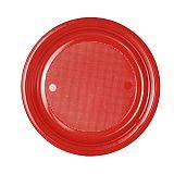 Menü-Teller, PS ungeteilt Ø 22 cm, 2 cm rot, tradingbay24 (tbU90169), 780 Stück